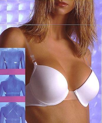 clear back bra clear center
